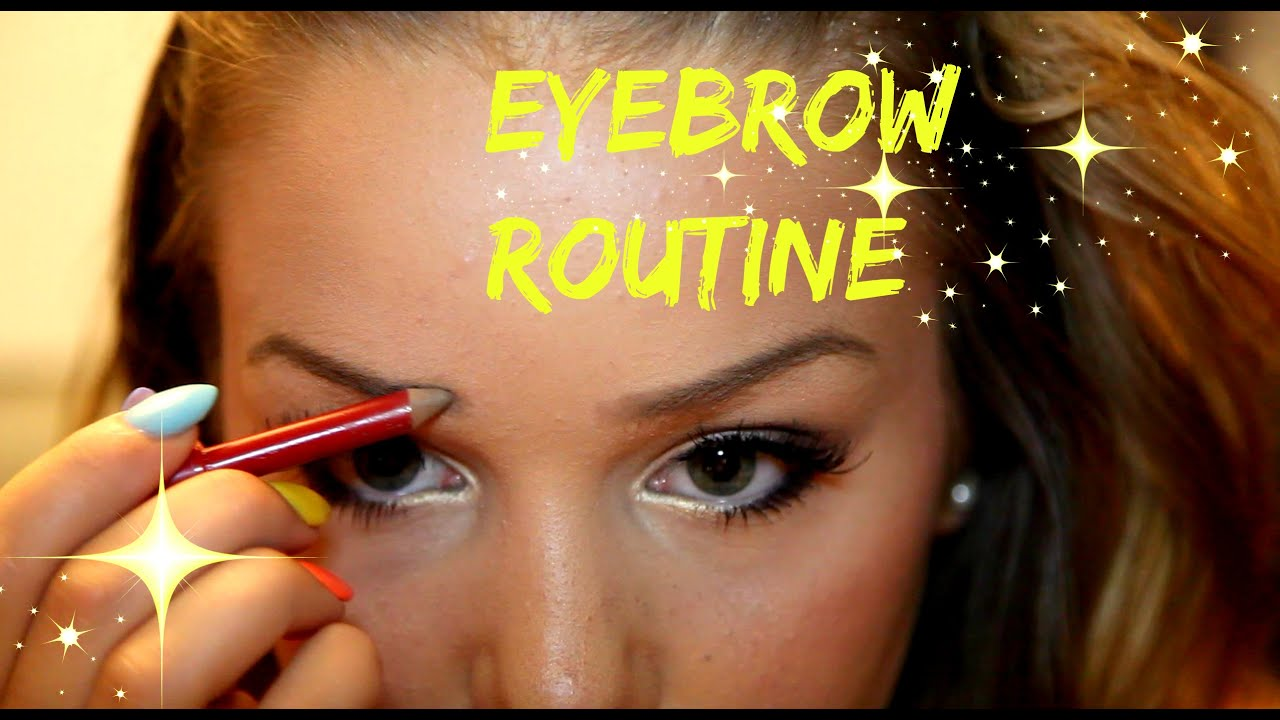 EYEBROW ROUTINE - How I tweeze, shape and frame my brows ...
