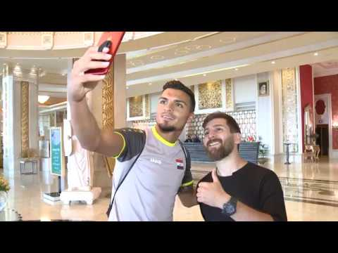 Lionel Messi's Iranian doppleganger meets Iraq's national team
