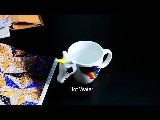 Mug Color Unicorn Sensitive Magic Changing Cozzine Ceramic Heat Cup zqpUMVSLjG