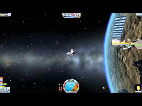 "KSP Exploration E2: First ""Skychaser"" Spaceplane to the Station, MinSat-1 scanner Minmus"