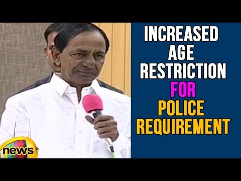 CM KCR Increased Age Restriction For Telangana Police Requirement | Mango News