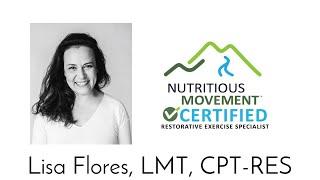Live! Q&A with Lisa Flores, LMT, CPT-RES - exercise - movement - flexibility