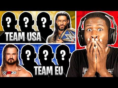 WWE 2K20 - 4 AMERICAN WRESTLERS vs 4 EUROPEAN WRESTLERS!