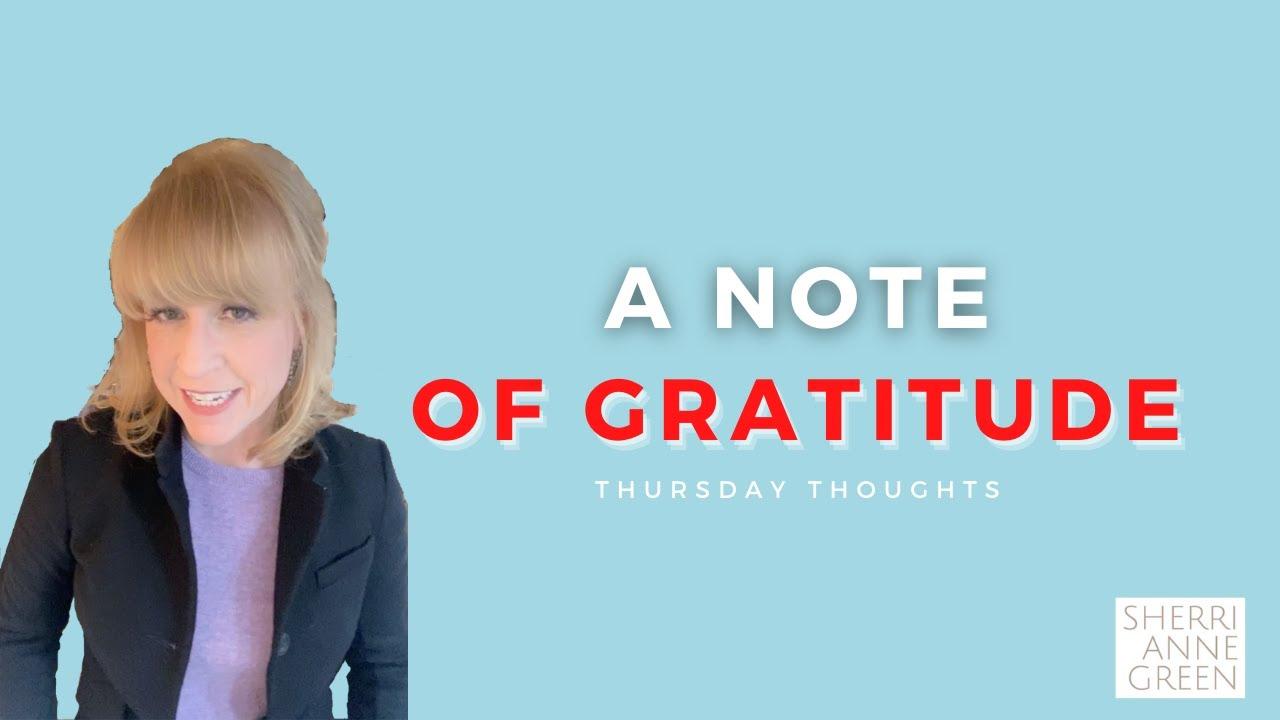 A Note of Gratitude
