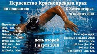 Первенство Красноярского края по плаванию 01.03.18, г. Зеленогорск