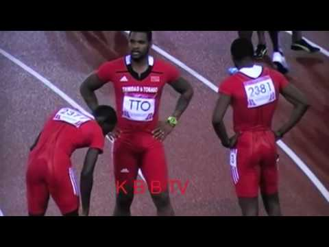 Jamaica's Men and Women in the 4x100m Final Commonwealth Games