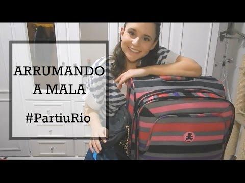 ARRUMANDO A MALA PARA O RIO DE JANEIRO