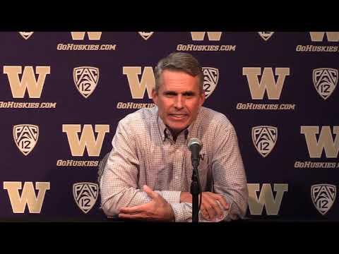 Washington Huskies - UW Head Coach Chris Petersen Game Week Press Conference