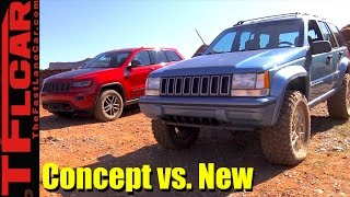 Concept vs New: Jeep Grand One Concept vs 2017 Grand Cherokee Off-Road Mashup Review