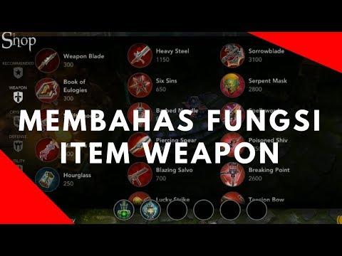 Membahas Semua Fungsi Item Weapon Vainglory 2.8