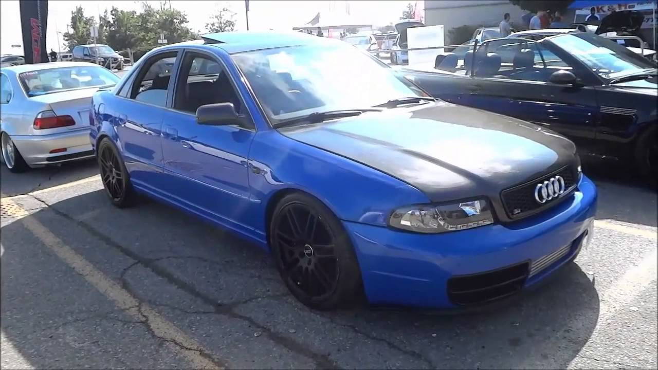 Lowered Audi S4 With Intercooler And Carbon Fiber Hood