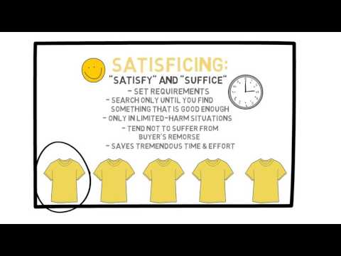Lecture 33: Satisficing and Simplicity