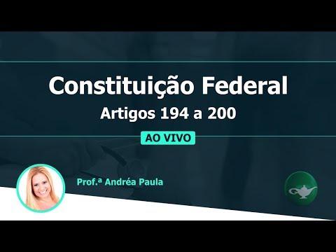 Видео Constituição federal artigo 194 a 200