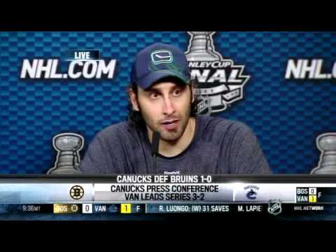Roberto Luongo Critiques Tim Thomas After Game 5 Youtube