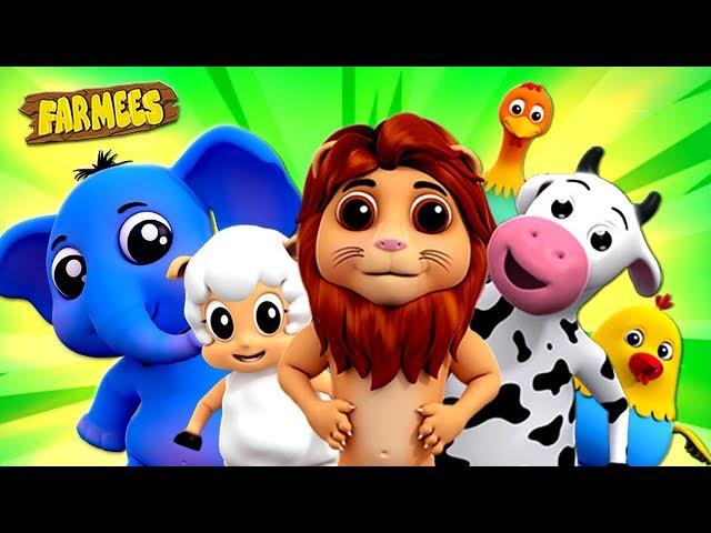 Animal Sound Song | Kindergarten Nursery Rhymes For Children | Cartoons by Farmees