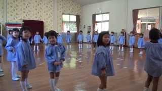 芽生え幼稚園 リトミック教室 すみれ組 リズム聴取 おかしのリズム