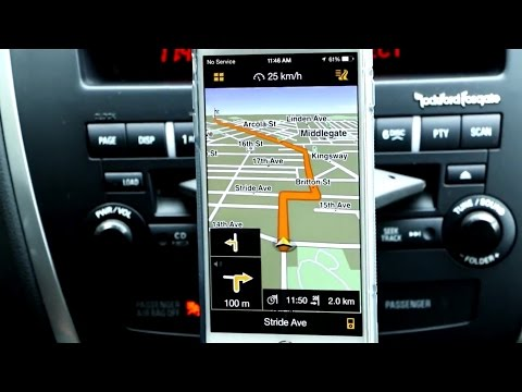 iPhone 6 Plus - Navigon GPS App for the Apple Smartphones