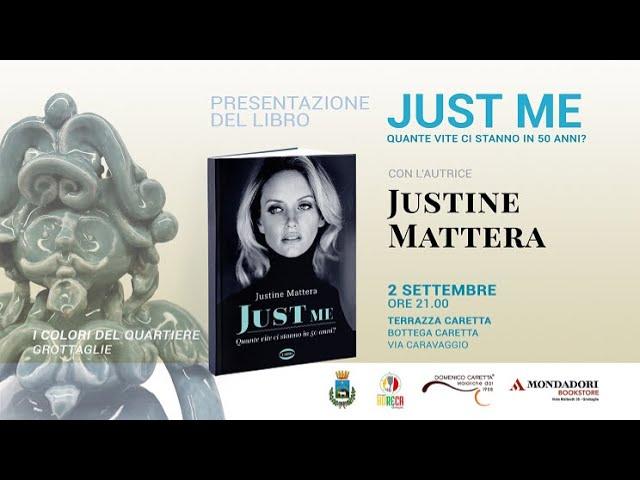 Grottaglie: Justine Mattera presenta il libro Just Me. Quante vite ci stanno in 50 anni?