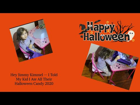 Jimmy Kimmel 2020 Halloween Candy Hey Jimmy Kimmel — I Told My Kid I Ate All Their Halloween Candy