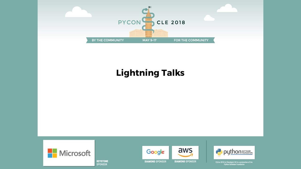 Image from Lightning Talks Saturday Evening 2018-05-12