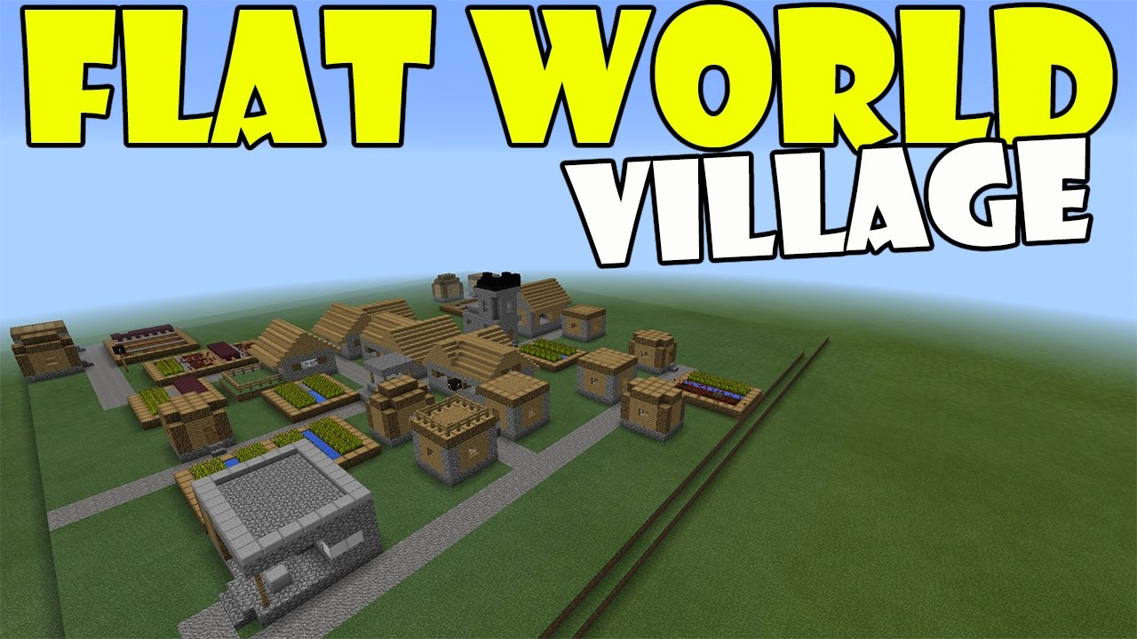 Flat world village minecraft pe pocket edition mcpe youtube gumiabroncs Gallery
