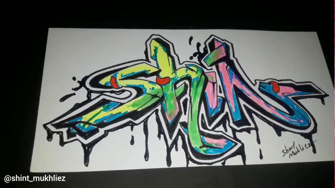 Graffiti 3d Shint Cara Cepat Belajar Graffiti Nama