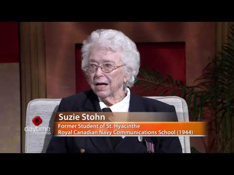Suzie Stohn Talks About Being a Wren Coder in World War II - daytime Toronto