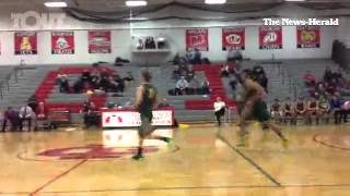 Video Grosse Ile and Flat rock boys basketball 2nd qtr