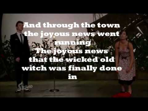 Ding Dong The Witch Is Dead Karaoke / Instrumental Glee