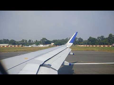 Patna airport indigo flight takeoff