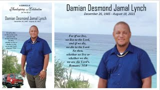 A Service of Thanksgiving for the Life of Damian Desmond Jamal Lynch