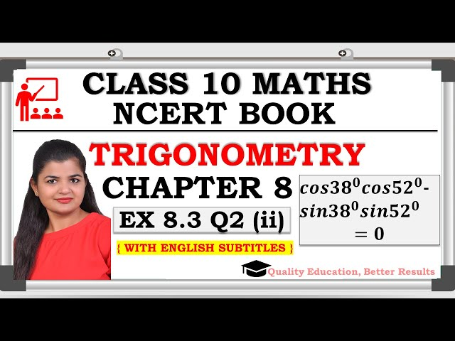 Class 10 Trigonometry Exercise 8.3 Question 2 (ii) | CBSE | NCERT BOOK