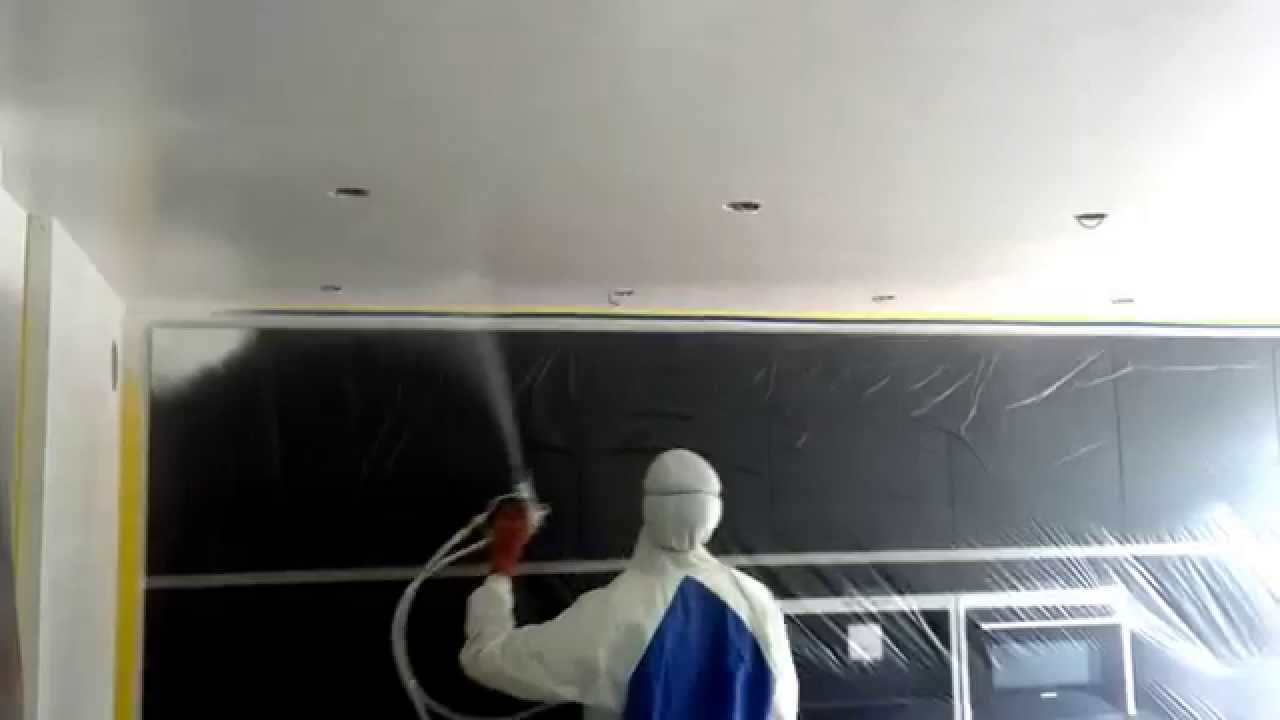 glad gestuct plafond airless spuiten youtube