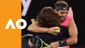 Rafa and Firefighter Deb defeat Wozniacki and Zverev   Australian Open 2020