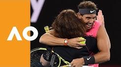 Rafa and Firefighter Deb defeat Wozniacki and Zverev | Australian Open 2020