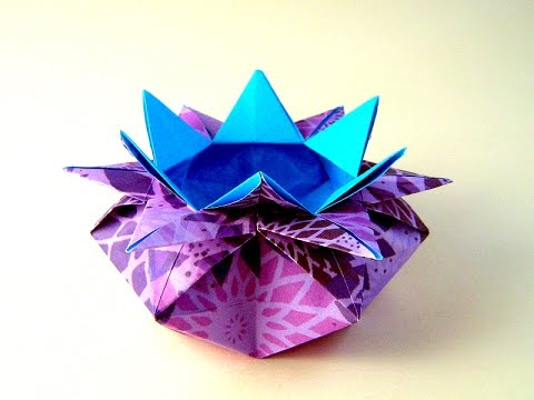 Origami Easy Box 10 Points Star Vase