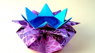 Origami Easy box – 10 Points Star Vase - Star candy box Valentine's basket