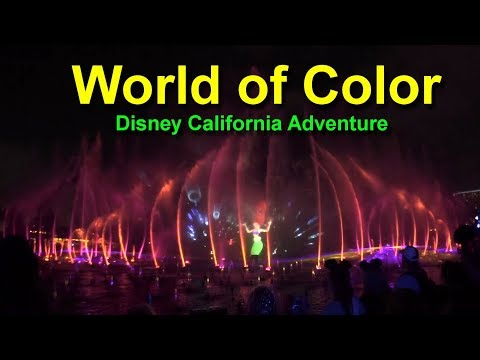 World of Color Disney California Adventure Disneyland Resort Complete Show HD Wide Angle Low Light