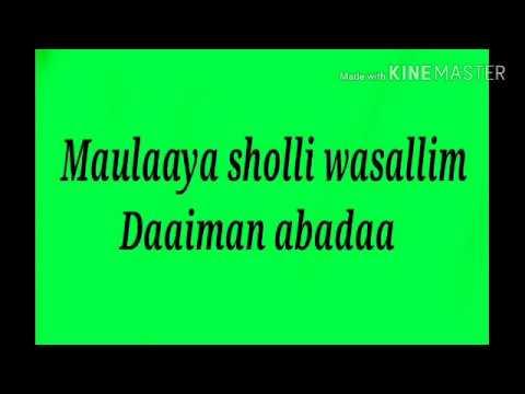Sholawat Burdah Lirik Music