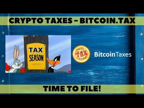 Crypto Taxes - Bitcoin.tax review - Time to file
