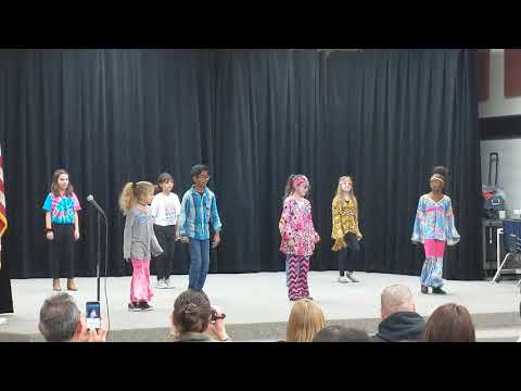 Andrew's Steadham Elementary school class 70s dance on Black History month celebrations day