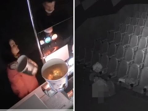 Couple breaks into cinema hall during lockdown, help themsel