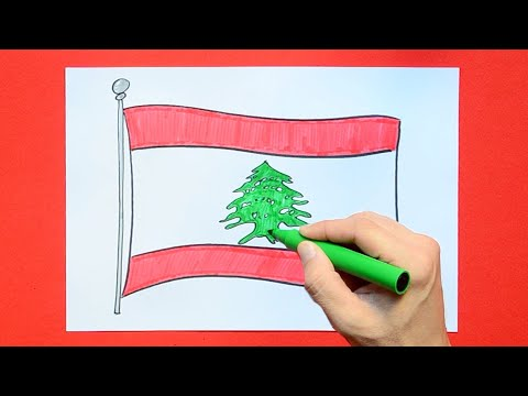 How to draw the National Flag of Lebanon