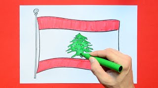 How to draw and color the National Flag of Lebanon