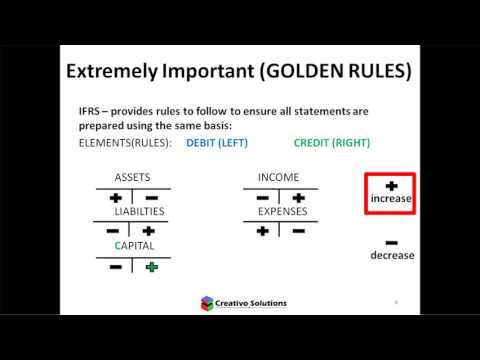 Accounting for non-accountants (Video 6 in the series) - Most Important Accounting Rules
