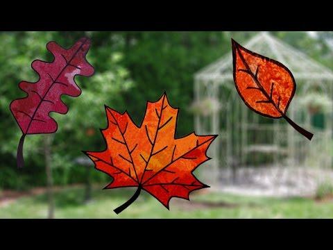 Bricolage vitraux d 39 automne youtube - Bricolage facile a faire pour adulte ...
