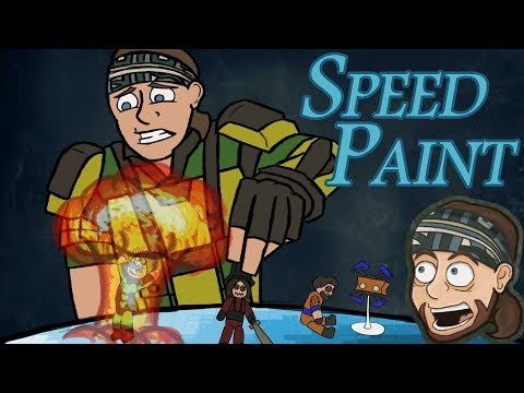 Let's Create: XCOM 2 Title Card | SpeedPaint | Ark Thompson Draws