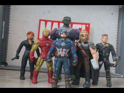 Мстители Финал Из Пластилина / Avengers EndGame Figures Of Clay