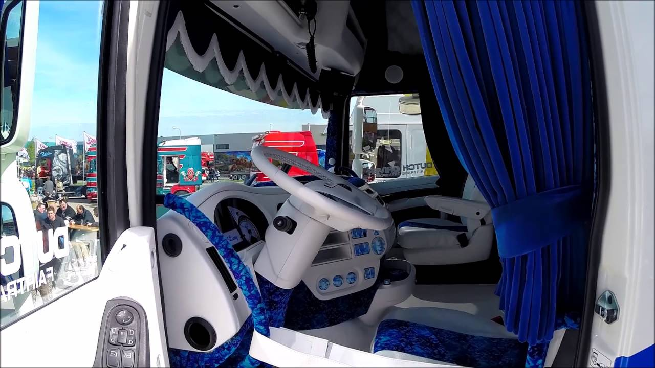SHOWTRUCK INTERIORS #5 - DAF XF EURO 6 H. EVERS ''EVERS STYLE'' - YouTube