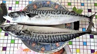 СКУМБРИЯ. Как почистить скумбрию? Самый удобный и быстрый способ.Чистим рыбу. Супер  рыба Омега 3